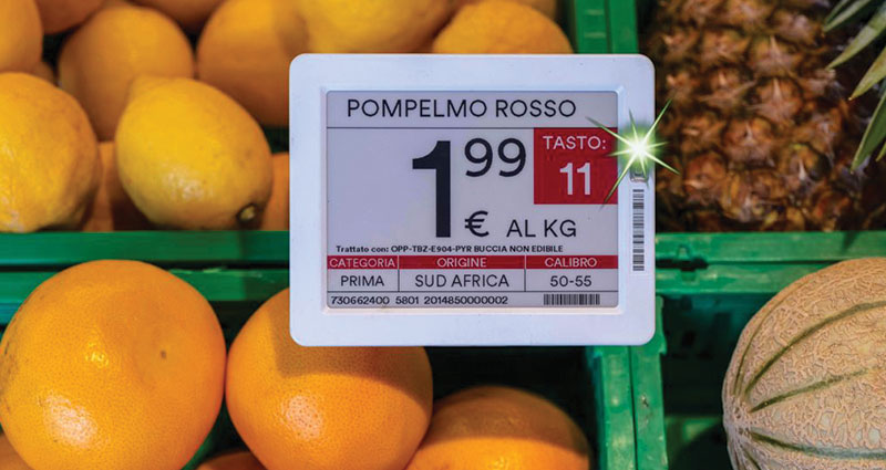 electronic shelf label with instant flash